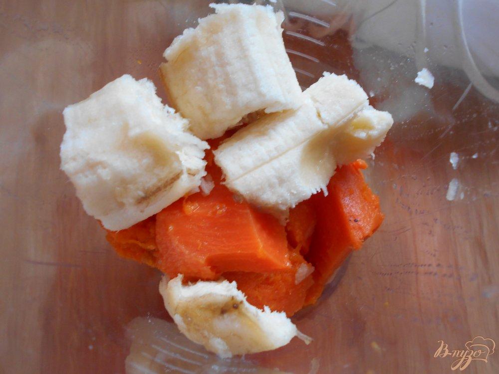 Фото приготовление рецепта: Фруктовое пюре из яблока, банана и батата шаг №4