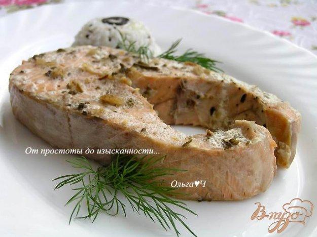 фото рецепта: Кижуч в пряностях с мятой