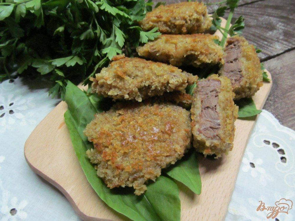 Фото приготовление рецепта: Свиной язык в панировке шаг №5