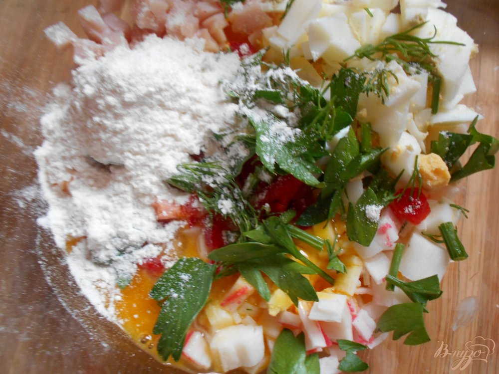 Фото приготовление рецепта: Оладьи из кабачков шаг №4