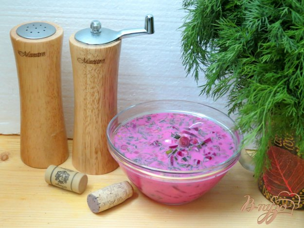 фото рецепта: Литовский холодный борщ