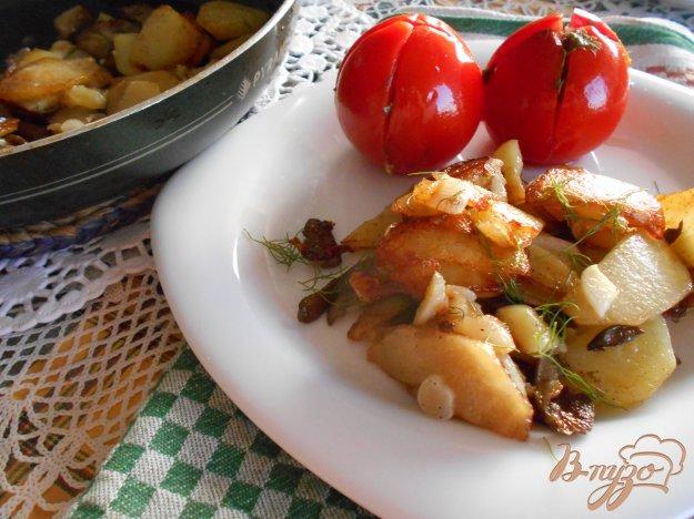 Картопля смажена з вешенками. Як приготувати з фото