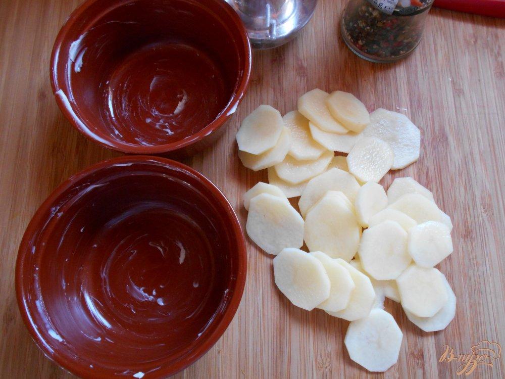 Фото приготовление рецепта: Картофельный гратен шаг №2
