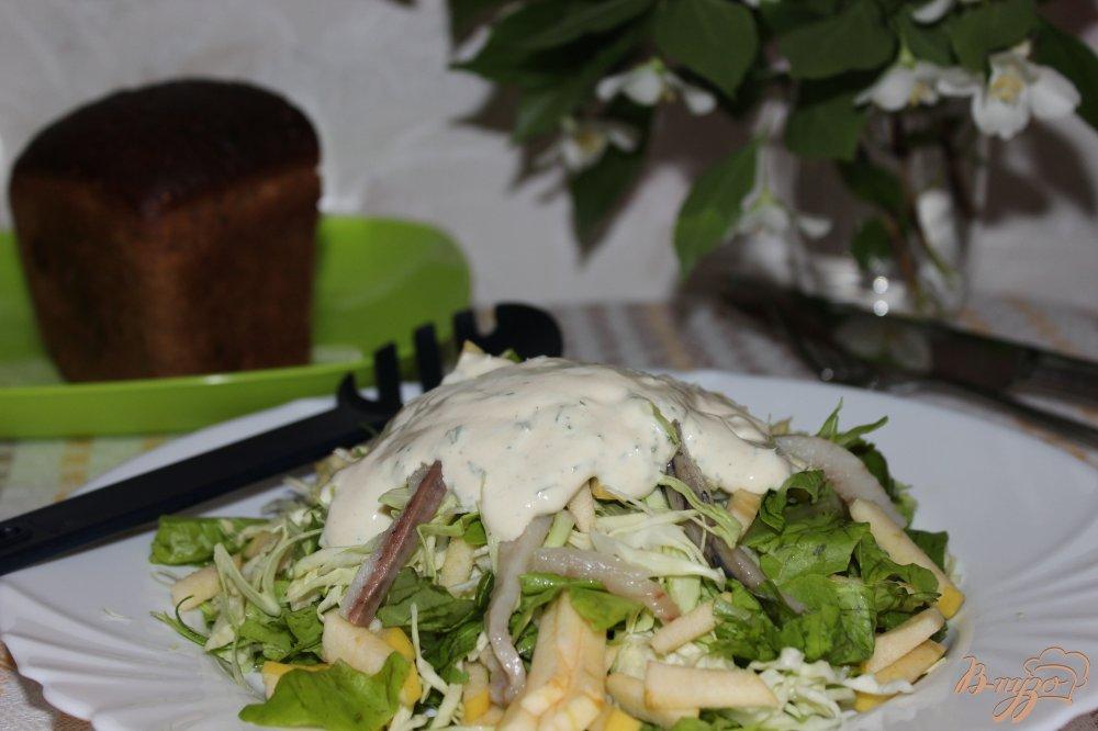 Фото приготовление рецепта: Скандинавский селёдочный салат шаг №7