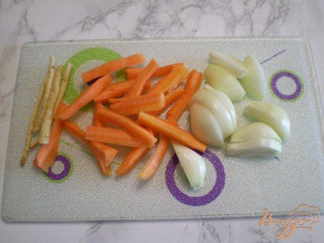 Фото приготовление рецепта: Рисовый суп без картофеля шаг №2