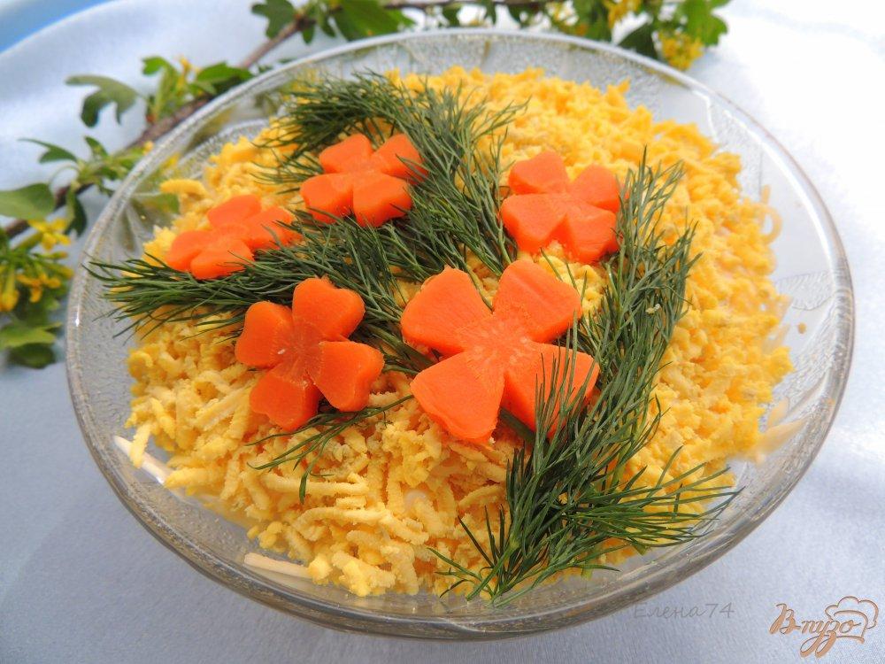 Фото приготовление рецепта: Салат с горбушей и гречкой шаг №7