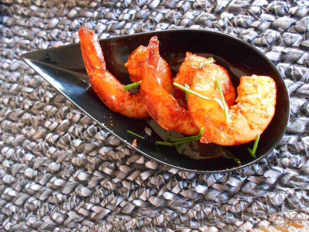 Фото приготовление рецепта: Острые креветки в кисло-сладком соусе шаг №6