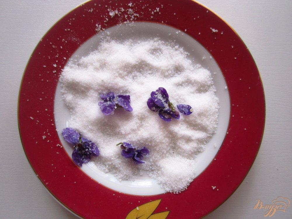 Фото приготовление рецепта: Сахарные фиалки шаг №4