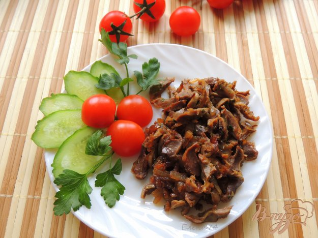 фото рецепта: Желудочки в соевом соусе