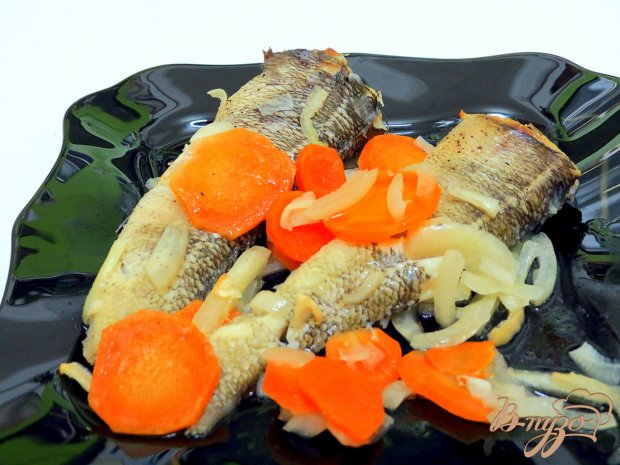 Нототения с овощами в духовке.