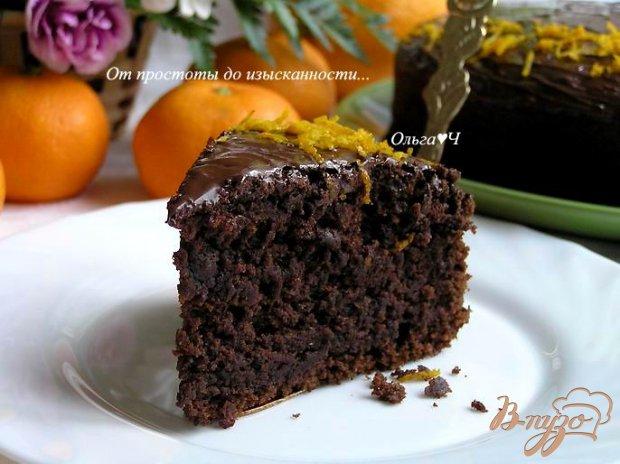 Свекольно-шоколадный торт с апельсиновой цедрой