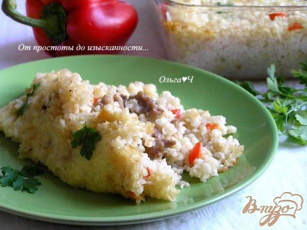 Кассероль со свининой, овощами и коричневым рисом