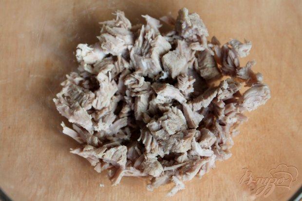 Рецепт Свекольный салат с мясом и яблоком