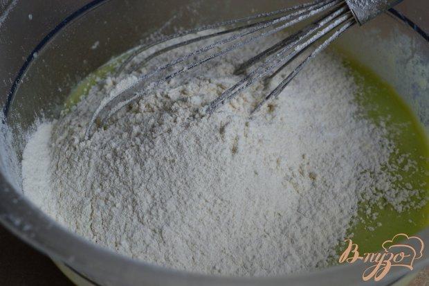 Мятные оладьи с грушей