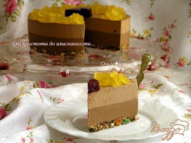 """Торт """"Шоколадно-фруктовый вальс"""""""