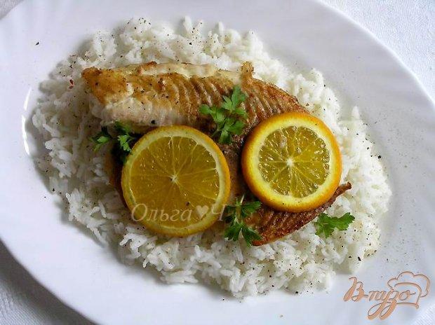 Тилапия с апельсином и рисом Басмати