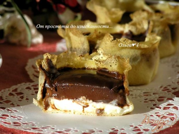 """Десерт в блинчике """"Имбирь и шоколад"""""""