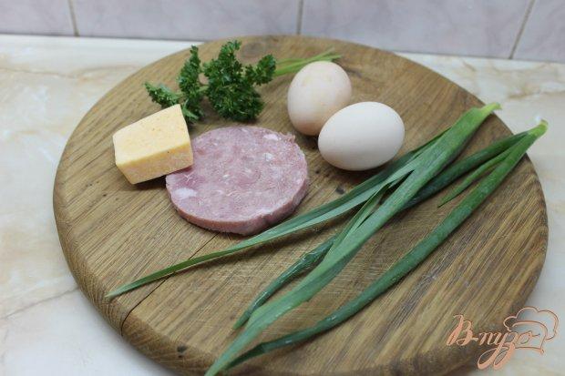 Рецепт Омлет с сыром, ветчиной и зеленью