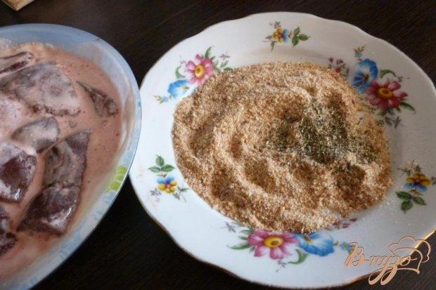 Жаренная печень, маринованная в сметане