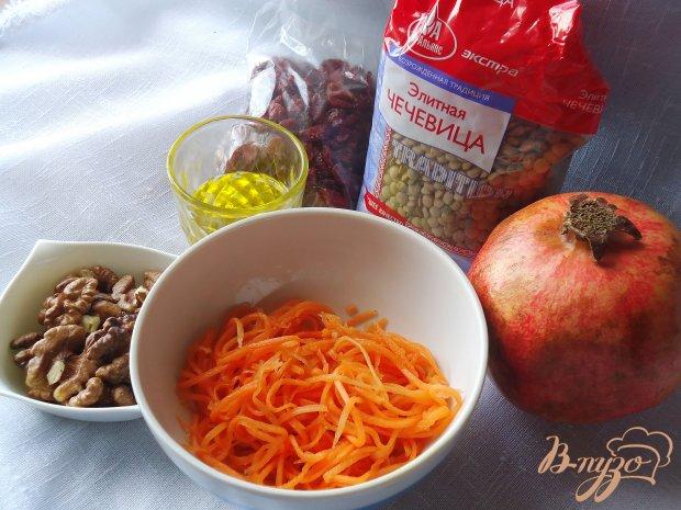Рецепт Постный салат из чечевицы