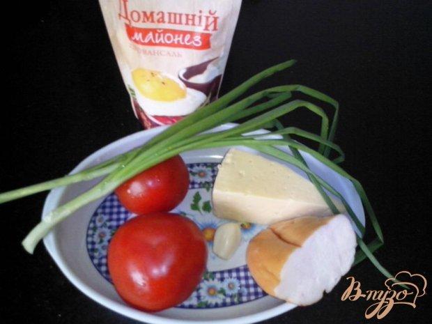 Салат «Нежный» с копчёным куриным филе