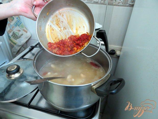Суп из фасоли с копчёностями