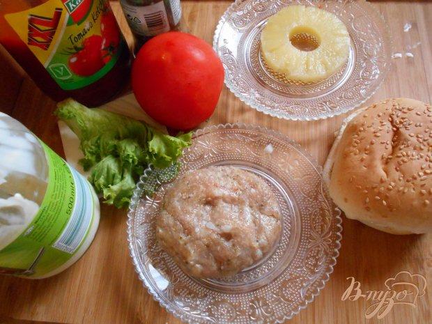 Рецепт Чикенбургер с ананасом
