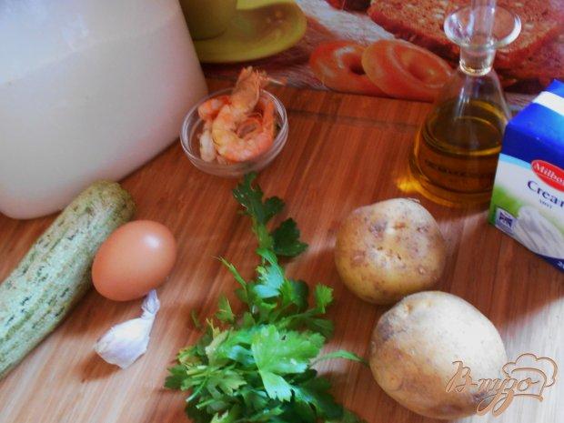 Рецепт Картофельные ньокки с соусом из креветок и цуккини