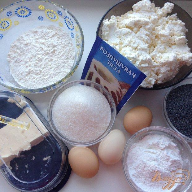 Рецепт Пирог с творогом и маком