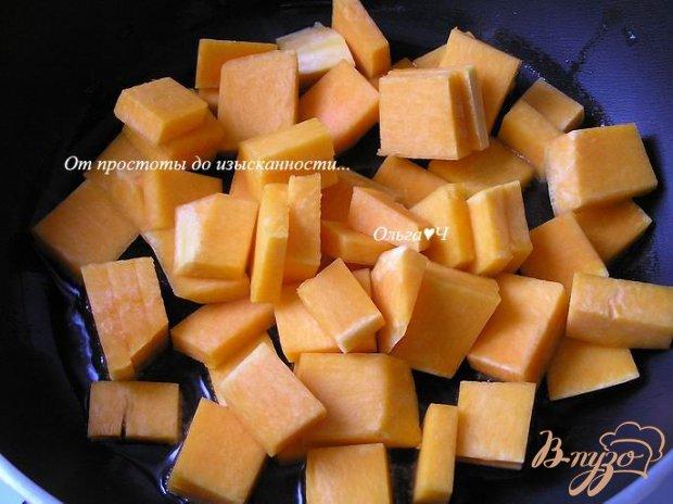 Рецепт Теплый десерт из тыквы и яблок
