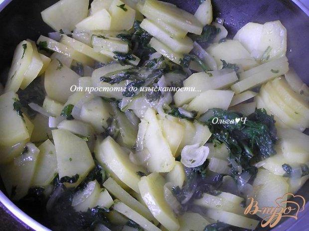 Тортилья с луком и шпинатом