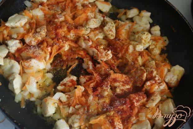 Курица с овощами в томатно-сметанном соусе