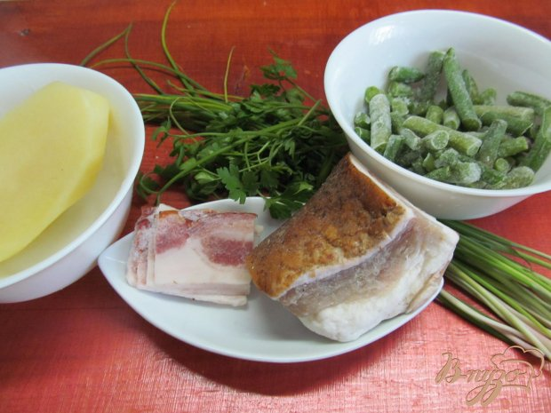Рецепт Теплый картофельный салат с фасолью