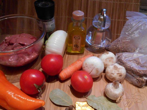 Рецепт Гречка с куриной печенью в горшочках