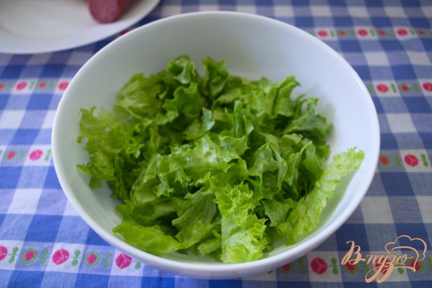 Рецепт Арагонский салат с салями