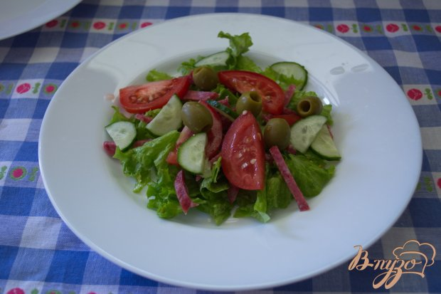 Арагонский салат с салями