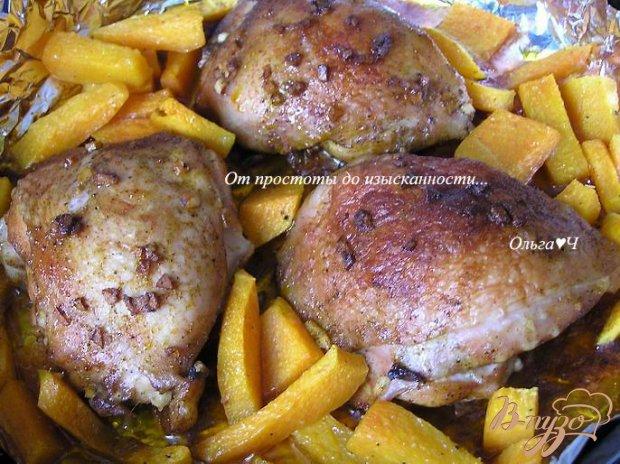 Пряные куриные бедрышки с тыквой
