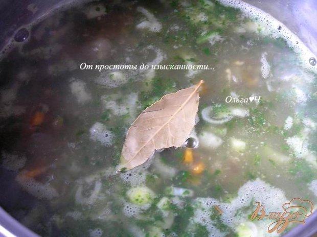 Суп с машем и шпинатом