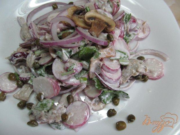 Салат из мяса с редисом