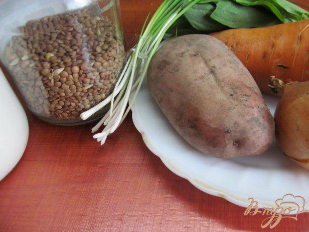 Рецепт Суп с чечевицей и шпинатом