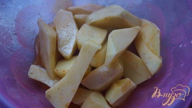 Подчеревок с картофелем в рукаве