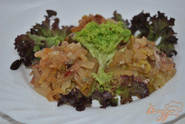 Порционный картофель с кальмарами