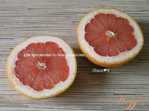 Рецепт Запеченный грейпфрут с кокосовой стружкой