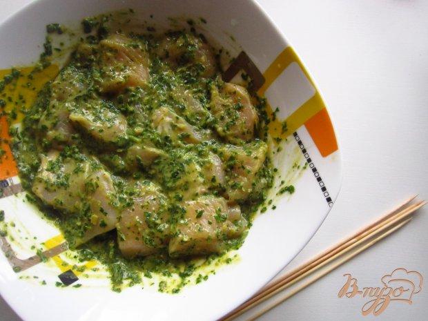 Куриный шашлык в ореховом соусе
