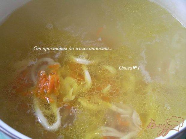 Овощной суп с кальмарами