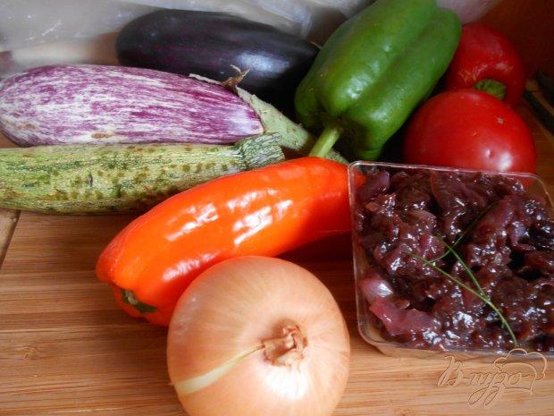 Рецепт Пирог с овощами и луковым мармеладом