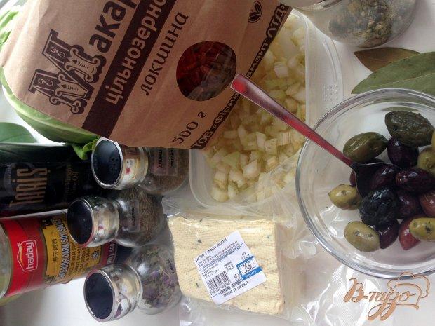Рецепт Макароны с тофу и оливками