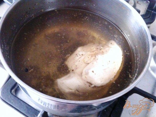 Рецепт Куриный бульон с пельменями
