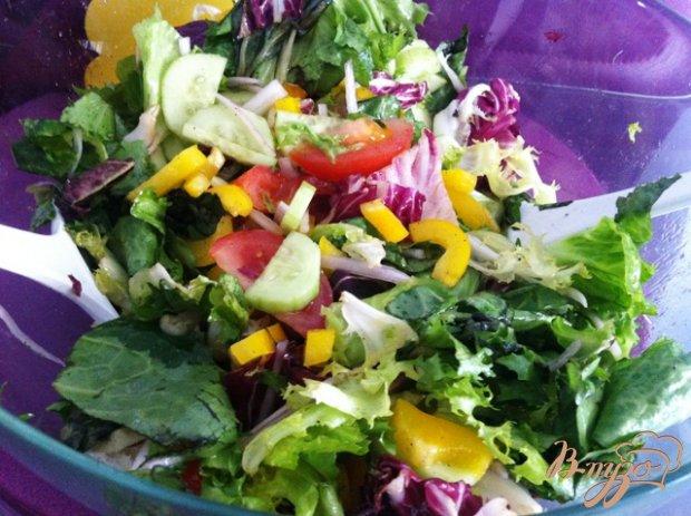 """Салат """"Светофор"""" с овощами"""
