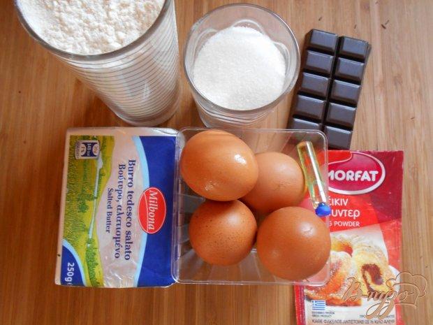 Шоколадно-ванильные мадленки